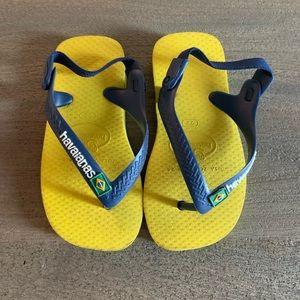 Havaianas Brazil Flag Childrens Flip Flop